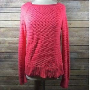 American Eagle Pink Sweater Zipper Detail SZ L C10